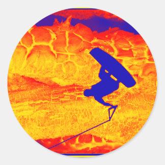 Wakeboard Mystic Classic Round Sticker