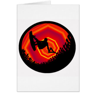 Wakeboard que soña a gente tarjetas