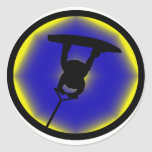 Wakeboard Raley BLellow Classic Round Sticker