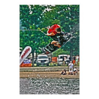 Wakeboard Rider Poster