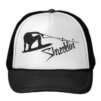 Wakeboard Shreddin' BW Trucker Hat