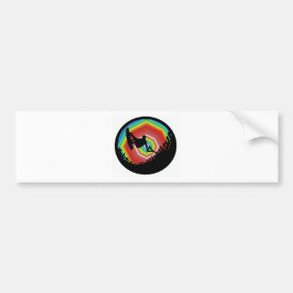 Wakeboard Sonic Sound Car Bumper Sticker