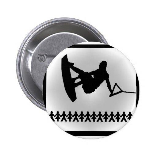 Wakeboard Standard Slider Pinback Buttons
