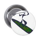 Wakeboard Super Green Pinback Button