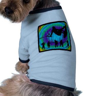 Wakeboard suscita camiseta de perro