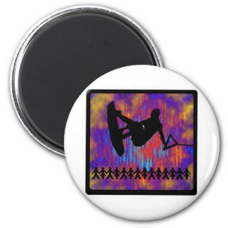 Wakeboard Suspended Animation 2 Inch Round Magnet