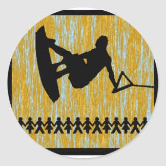 wakeboard the sonnet classic round sticker