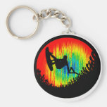 Wakeboard the Wakeboarder Basic Round Button Keychain