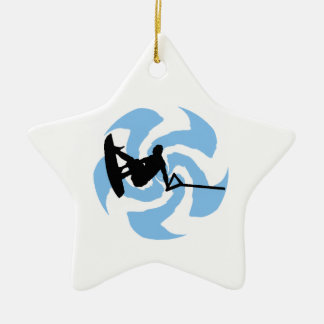 WAKEBOARD THUNDER BROUGHT CERAMIC ORNAMENT