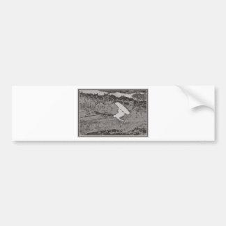 Wakeboard tone bumper sticker
