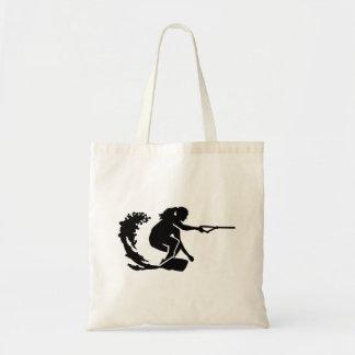 Wakeboard woman tote bag