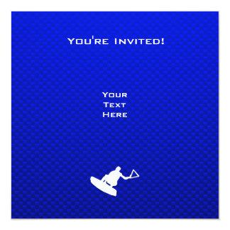 Wakeboarder azul invitación