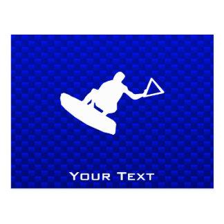 Wakeboarder azul postal