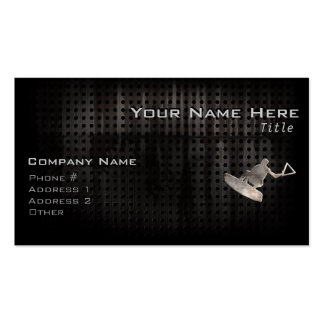 Wakeboarder Cool Black Business Cards