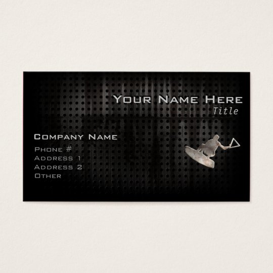 Wakeboarder; Cool Black Business Card