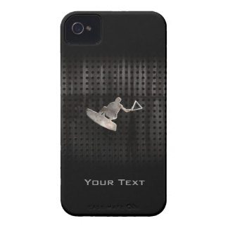 Wakeboarder Cool Black iPhone 4 Case-Mate Cases