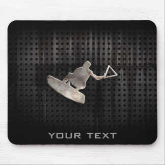 Wakeboarder; Cool Black Mouse Pad