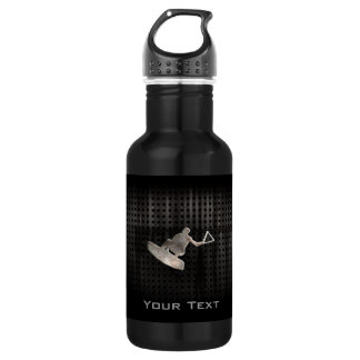 Wakeboarder; Cool Black Stainless Steel Water Bottle