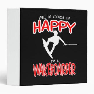 "WAKEBOARDER FELIZ (blanco) Carpeta 1 1/2"""
