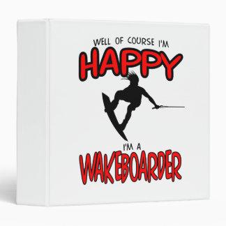 """WAKEBOARDER FELIZ (negro) Carpeta 1 1/2"""""""
