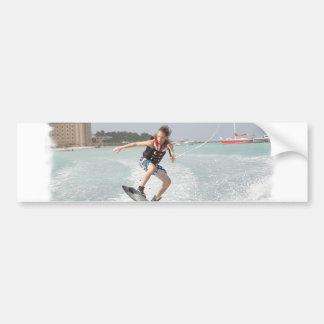 Wakeboarder Jumping Bumper Sticker