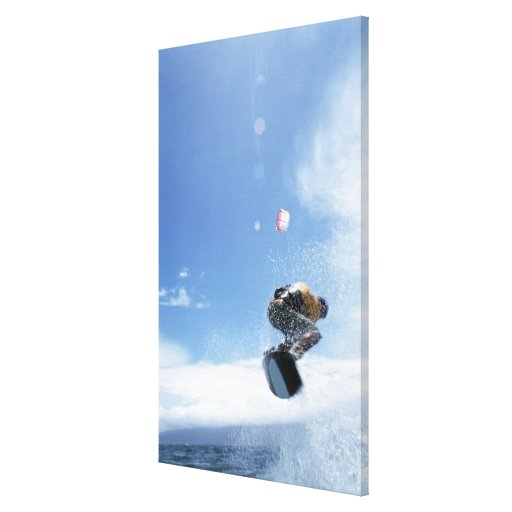 Wakeboarder Jumping Canvas Print