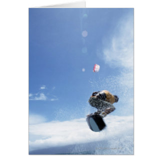 Wakeboarder Jumping Card
