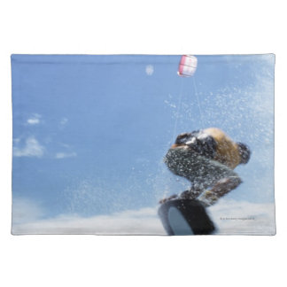 Wakeboarder Jumping Cloth Placemat