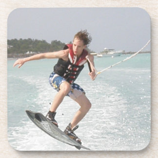 Wakeboarder Jumping Cork Coasters