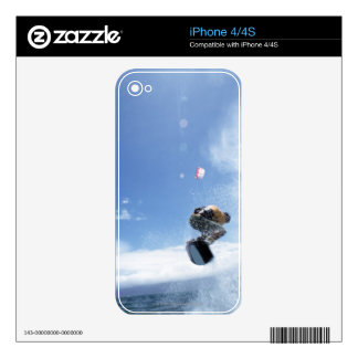 Wakeboarder Jumping Decals For The iPhone 4S