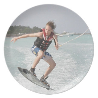 Wakeboarder Jumping Plate