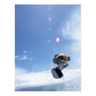 Wakeboarder Jumping Postcard
