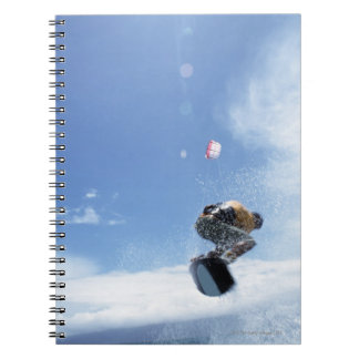 Wakeboarder Jumping Spiral Notebook