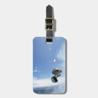 Wakeboarder Jumping Tag For Luggage