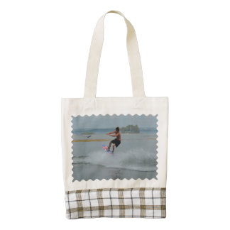 Wakeboarder Letting Go Zazzle HEART Tote Bag