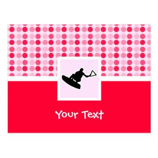 Wakeboarder lindo postal