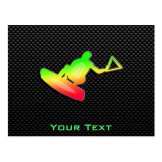 Wakeboarder liso postal