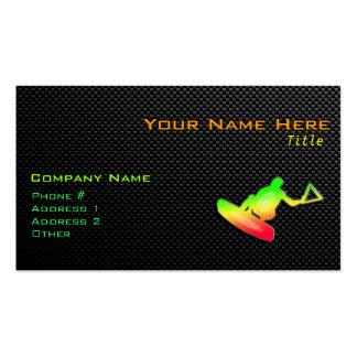 Wakeboarder liso tarjetas de visita
