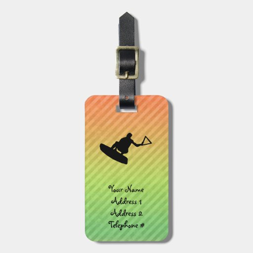Wakeboarder Luggage Tags