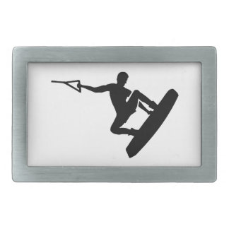 Wakeboarder Rectangular Belt Buckle