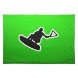 Wakeboarder verde manteles