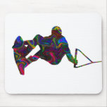 Wakeboarder Wild Colors Mousepad