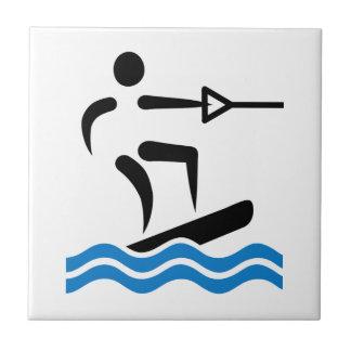 Wakeboarding Ceramic Tile