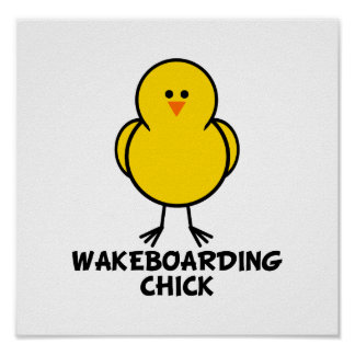 Wakeboarding Chick Poster