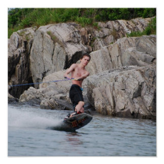 Wakeboarding costero posters