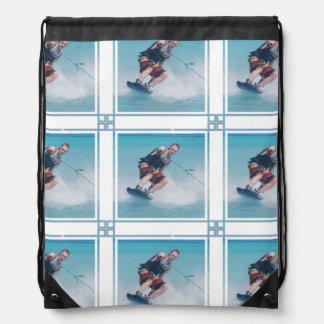 Wakeboarding Drawstring Bag