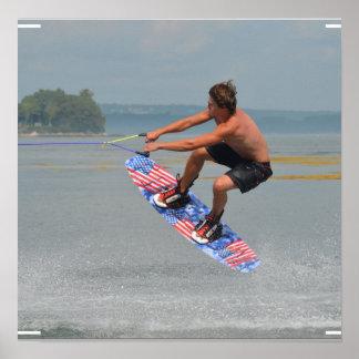 Wakeboarding Fun Poster