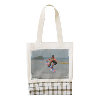 Wakeboarding Fun Zazzle HEART Tote Bag