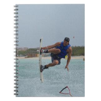Wakeboarding Grab Spiral Note Book