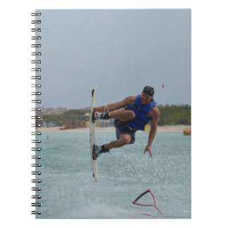 Wakeboarding Grab Spiral Note Books